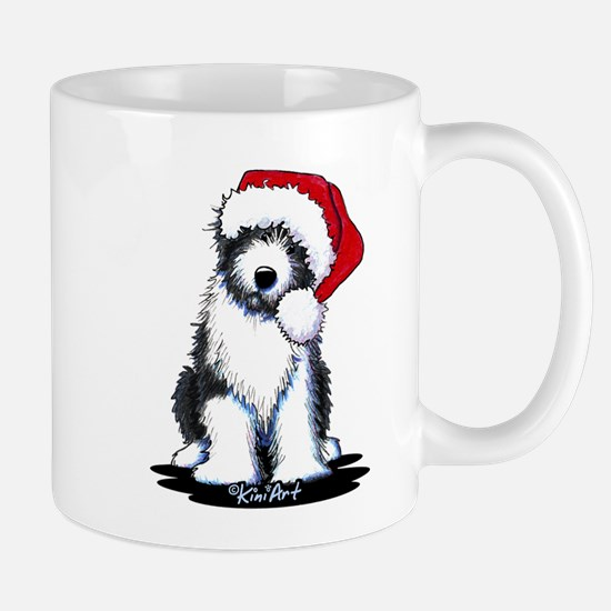 Bearded Collie Santa Mug