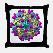 Coxsackie B3 virus particle - Throw Pillow