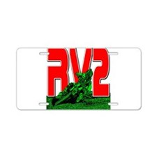 rv2red Aluminum License Plate