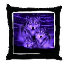 wolf pack Throw Pillow