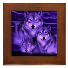 wolf pack Framed Tile