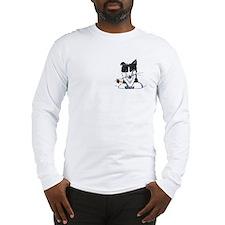 Border Collie Caricature Long Sleeve T-Shirt