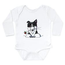 Border Collie Caricature Long Sleeve Infant Bodysu