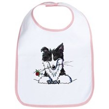 Border Collie Caricature Bib