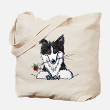 Border Collie Caricature Tote Bag