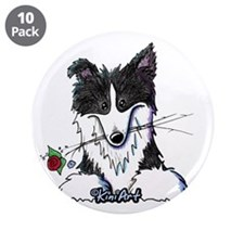 """Border Collie Caricature 3.5"""" Button (10 pack)"""