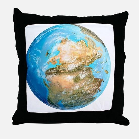 Pangea supercontinent, artwork - Throw Pillow