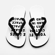 Five Lines Text Customized Flip Flops