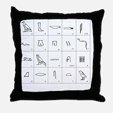 Phonetic Egyptian hieroglyphs - Throw Pillow