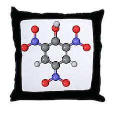 Picric acid explosive molecule - Throw Pillow