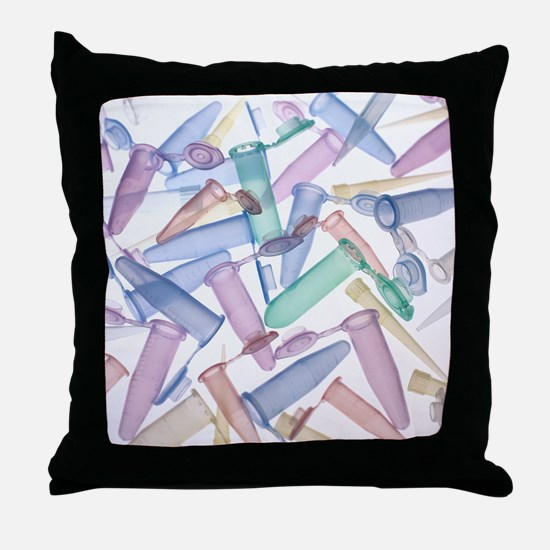 Pipette tips and sample tubes - Throw Pillow