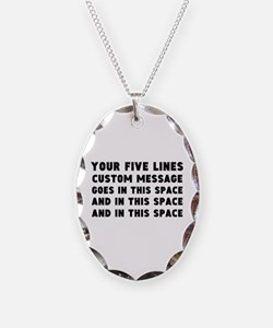 Five Lines Text Customized Necklace
