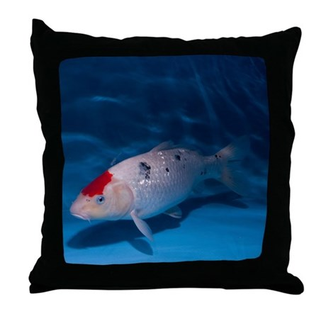 Sanke koi carp pool throw pillow by sciencephotos for Koi fish in kiddie pool