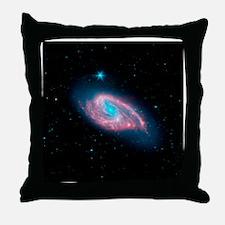 Spiral galaxy M66, infrared image - Throw Pillow
