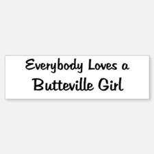 Butteville Girl Bumper Bumper Bumper Sticker