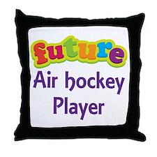 Future Air Hockey Player Throw Pillow