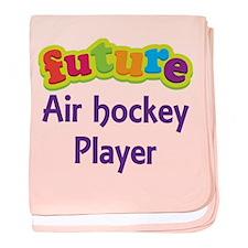 Future Air Hockey Player baby blanket