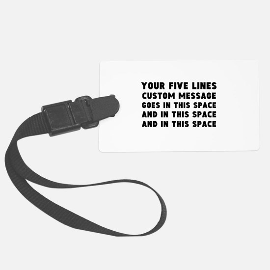 Five Lines Text Customized Luggage Tag