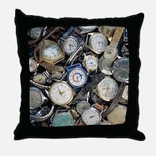 Broken wrist-watches - Throw Pillow