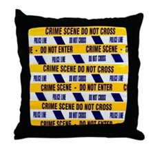 Crime scene tape - Throw Pillow