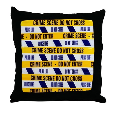 Throw Pillow Movie Scene : Crime scene tape - Throw Pillow by sciencephotos