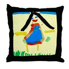 Child's painting - Throw Pillow