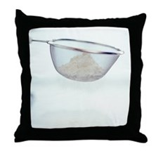 Sieving flour - Throw Pillow