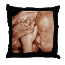 3-D foetal ultrasound - Throw Pillow