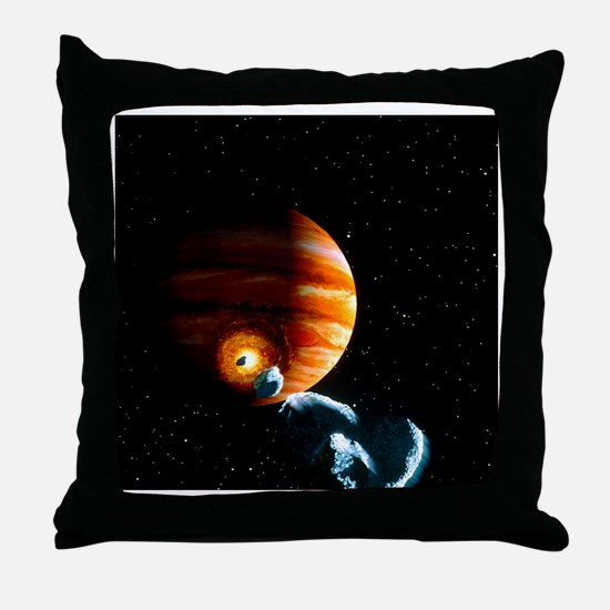 Artwork of first comet impacts on Jupiter, 1994 -