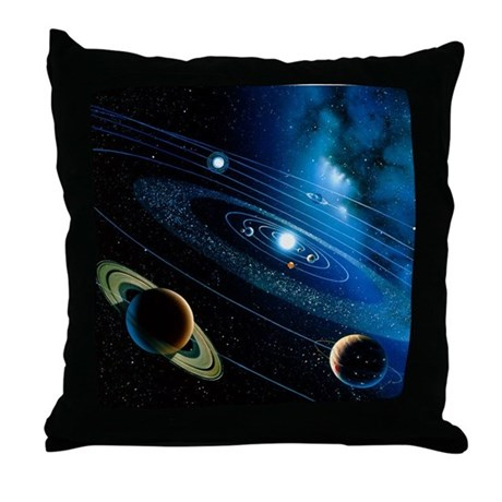 Artwork of the solar system - Throw Pillow