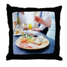 Cheese and meats - Throw Pillow