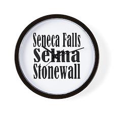 Seneca Falls Selma Stonewall Wall Clock