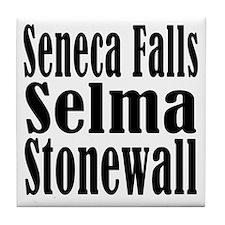 Seneca Falls Selma Stonewall Tile Coaster