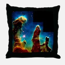 Gas pillars in Eagle Nebula - Throw Pillow