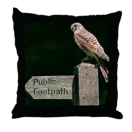 Common kestrel - Throw Pillow by sciencephotos