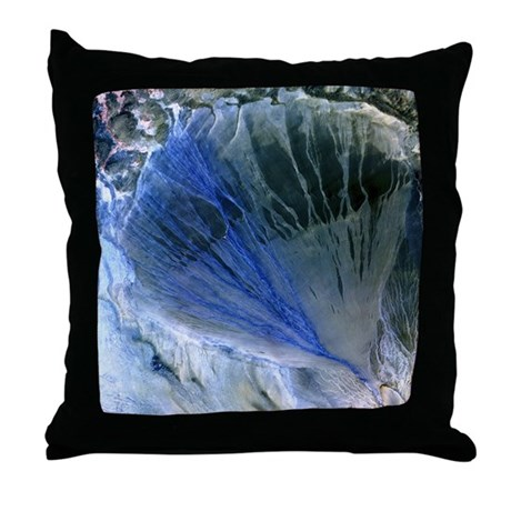 Desert alluvial fan, satellite image - Throw Pillo