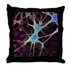 Nerve cell growth - Throw Pillow