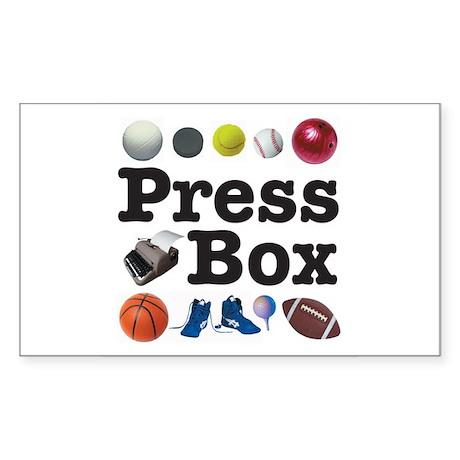 The Press Box Sticker (Rectangle)
