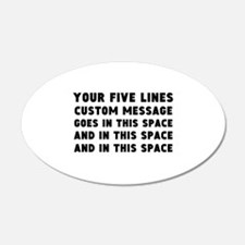 Five Lines Text Customized Wall Decal
