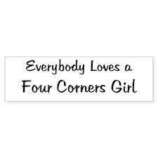 Four Corners Girl Bumper Bumper Sticker