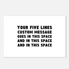 Five Lines Text Customize Postcards (Package of 8)