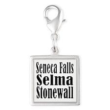 Seneca Falls Selma Stonewall Silver Square Charm