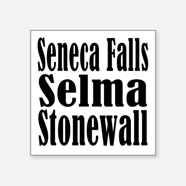 "seneca falls men But not until that meeting at seneca falls in 1848,  that all men and women are created equal,"" announced stanton at the first women's rights convention."