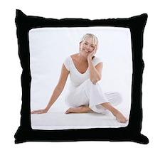 Happy senior woman - Throw Pillow