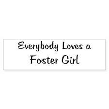 Foster Girl Bumper Bumper Sticker
