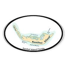 Sanibel Island - Map Design. Decal