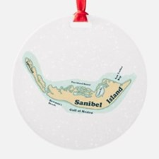 Sanibel Island - Map Design. Ornament