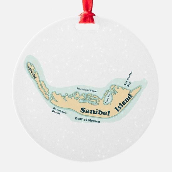 Sanibel Island - Map Design. Ornament