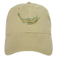 Sanibel Island - Map Design. Baseball Cap
