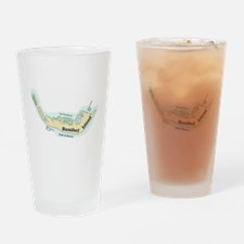 Sanibel Island - Map Design. Drinking Glass